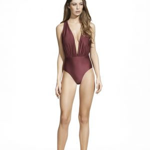 burgundy-drape-one-piece